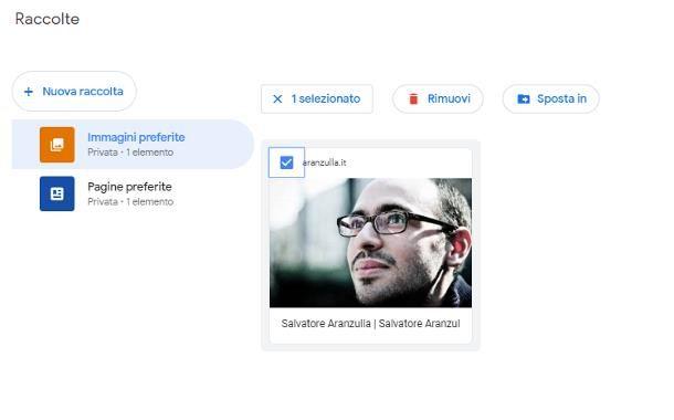 Cancellare immagini dalla raccolta Google
