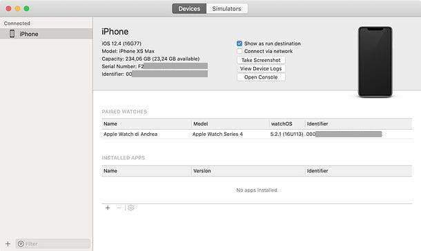 UDID iPhone in Xcode