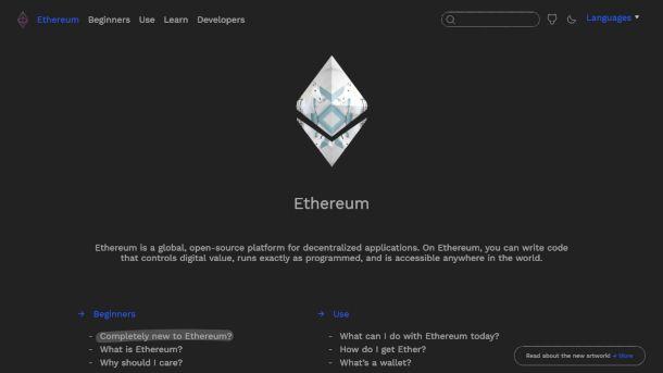 Sito di Ethereum