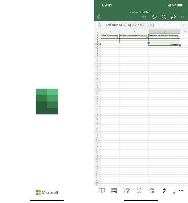 Excel per iPhone