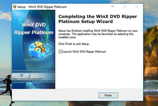 Installazione WinX DVD Ripper Platinum su Windows