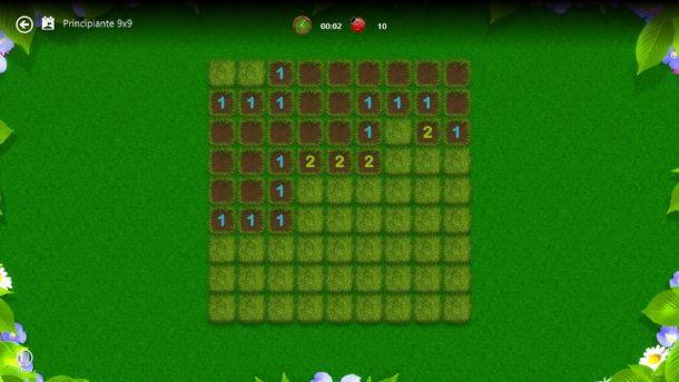 Schermata di Microsoft Minesweeper