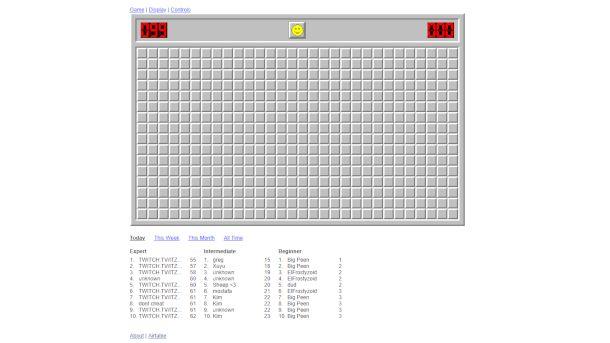 Schermata di Minesweeper Online