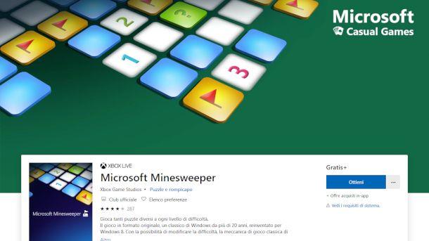 Schermata di Microsoft Store