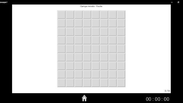Schermata di Minesweeper !
