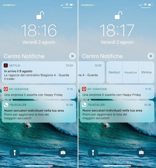 Cronologia delle notifiche su iPhone