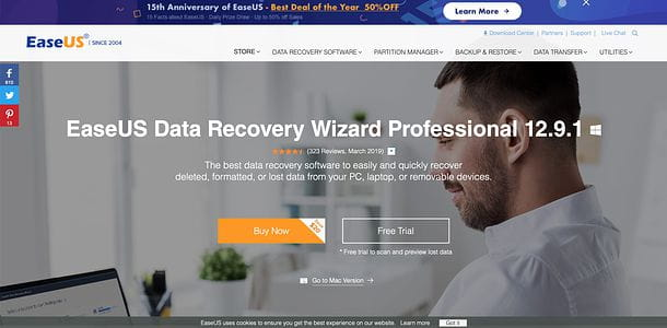 Home page EaseUS Data Recovery Wizard