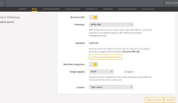 Configurare rete WiFi Fastweb - Ospiti