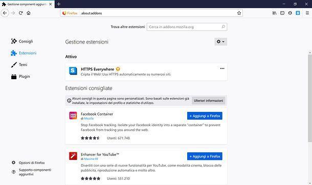Estensioni Firefox