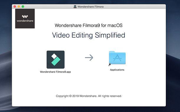 Installazione Filmora su Mac