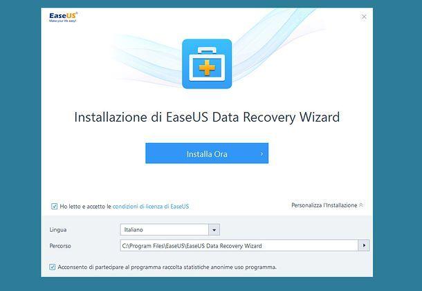 Installazione EaseUS Data Recovery Wizard