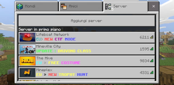 Giocare online a Minecraft