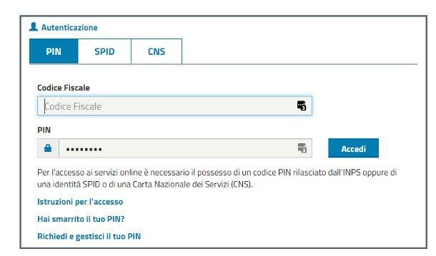 Come entrare nel sito INPS con il PIN