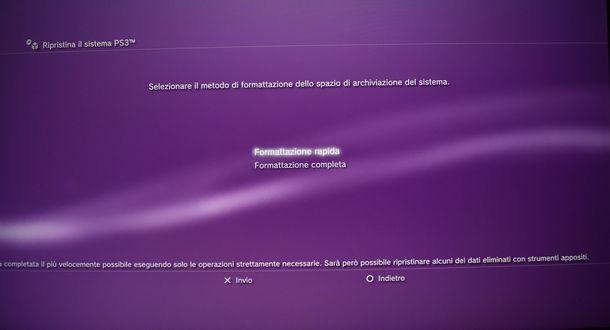 Formattazione PS3