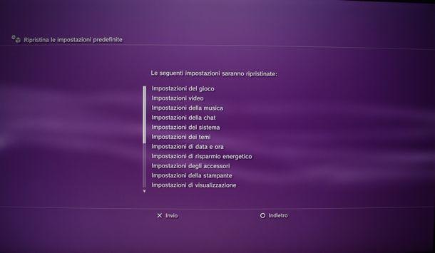 Come ripristinare il sistema PS3