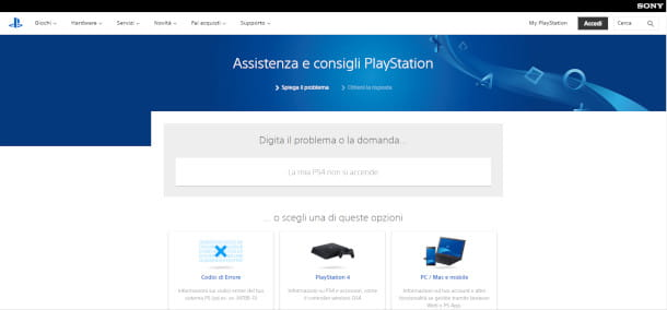 Assistenza PlayStation