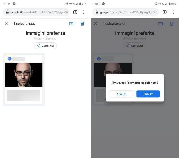 Come cancellare immagini salvate da Google