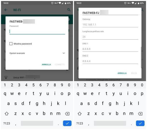 Come configurare rete WiFi su Android