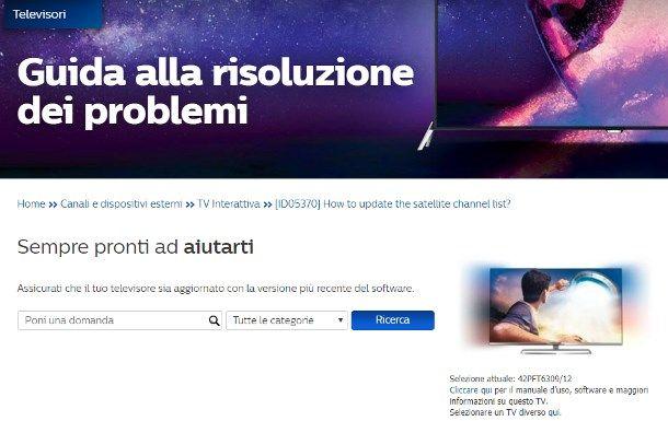 Come riordinare i canali TV Philips - In caso di problemi