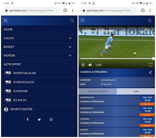 Come vedere partite di calcio gratis sul cellulare