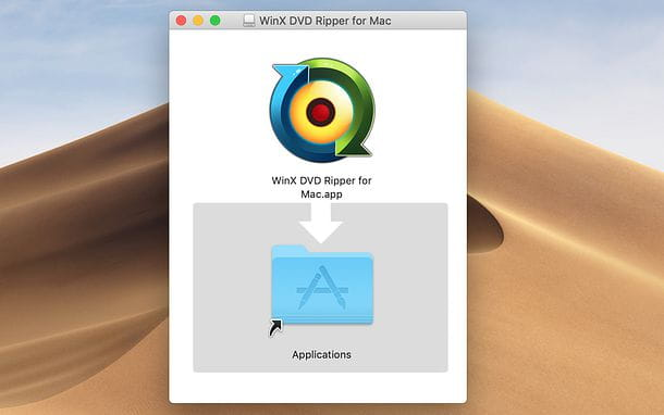 Installazione WinX DVD Ripper Platinum su Mac