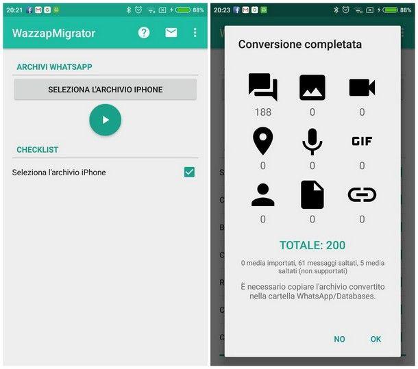 Ripristinare le conversazioni su Android