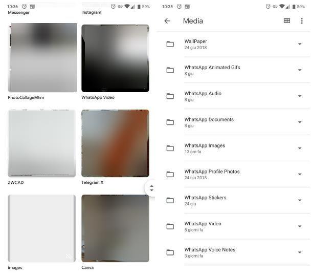 Recuperare video cancellati da WhatsApp Android tramite la galleria