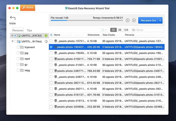 EaseUS Data Recovery Wizard per Mac