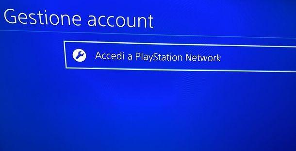 Accedi PSN
