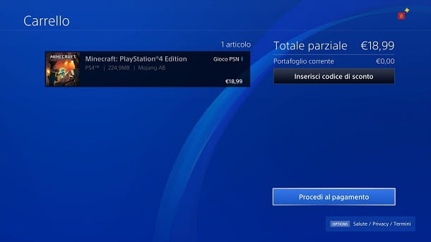 Acquistare Minecraft PlayStation 4 Edition