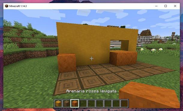 Arenaria rossa levigata Minecraft