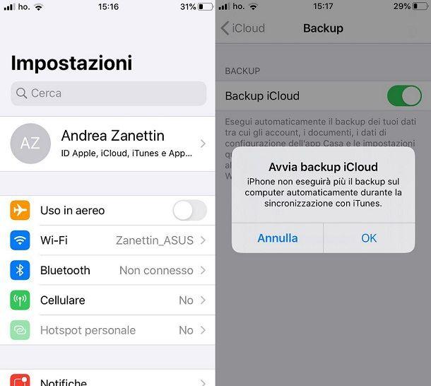 Backup iCloud iOS 13