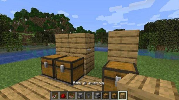 Blocchi dietro Minecraft