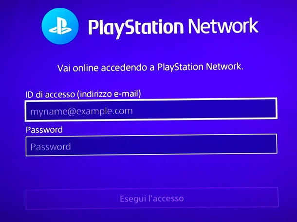 Come accedere a PlayStation Network