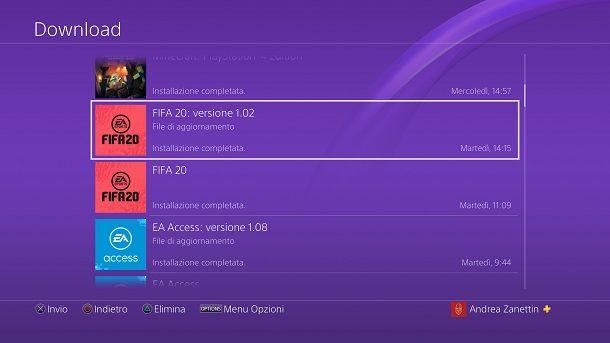 Come aggiornare FIFA su PS4