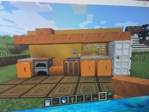 Cucina costruita Minecraft