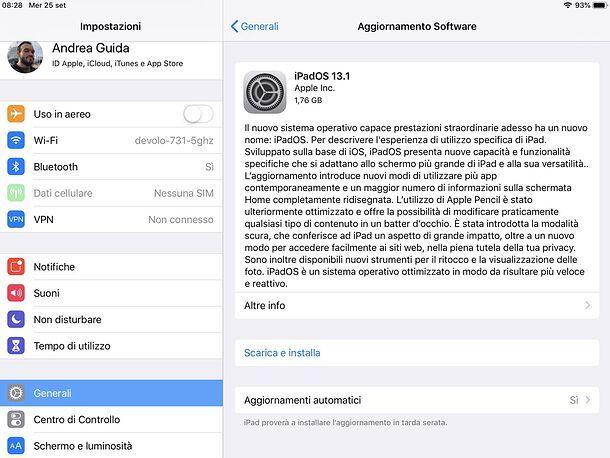 Installazione iPadOS