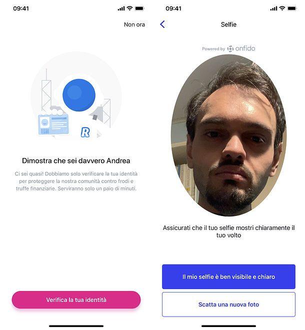 Verifica identità app Revolut