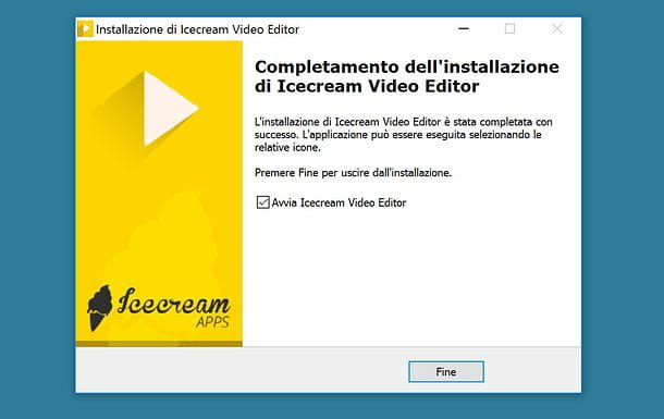 Installazione di Icecream Video Editor