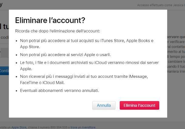 Come eliminare un ID Apple senza password