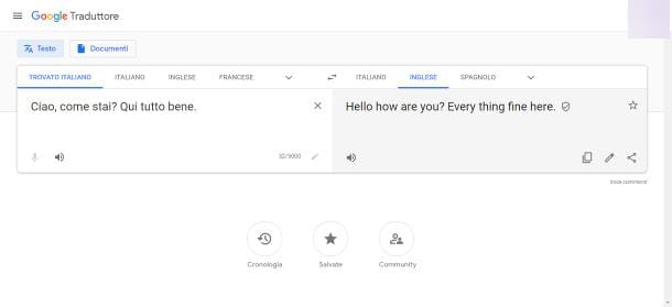 Google Translate su PC