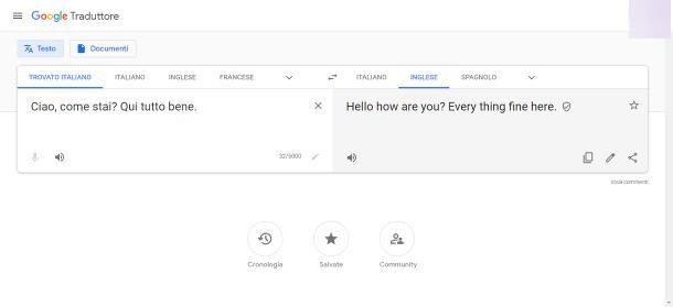 Google Translate su PC