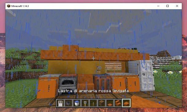 Lastra di arenaria rossa levigata Minecraft