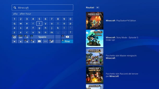 Minecraft PlayStation Store