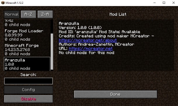 Mod Aranzulla Minecraft