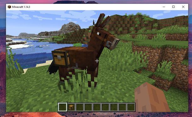 Mulo baule Minecraft