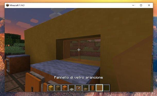 Pannello di vetro arancione Minecraft