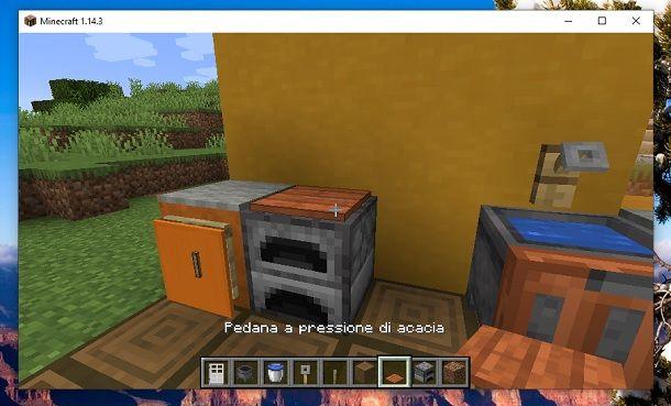 Pedana a pressione acacia Minecraft