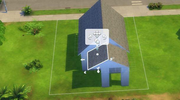 Piccolo tetto davanti The Sims 4
