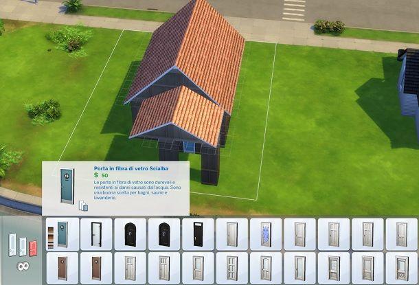 Porta in fibra di vetro Scialba The Sims 4